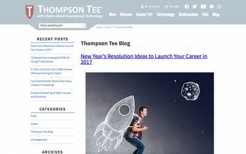 Screenshot of Blog thompsontee.com - Thompson Tee Blog - captured Dec. 23, 2016