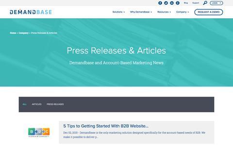 Press Releases & Articles :: Account-Based Marketing Đ Demandbase
