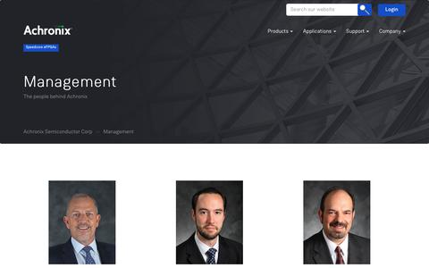 Screenshot of Team Page achronix.com - Management – Achronix Semiconductor Corp - captured Oct. 3, 2018