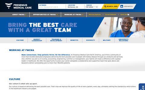 Screenshot of Jobs Page fmcna.com - Working at FMCNA - captured April 17, 2019
