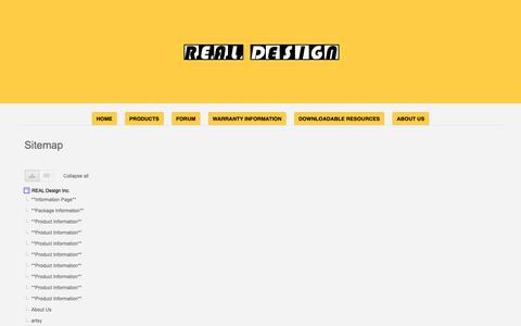 Screenshot of Site Map Page google.com - Sitemap - REAL Design Inc. - captured Oct. 31, 2018