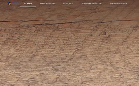 Screenshot of Home Page intren.hu - INTREN - Google AdWords, Facebook marketing, Analytics, Keresőmarketing | Intren.hu - captured Sept. 30, 2014