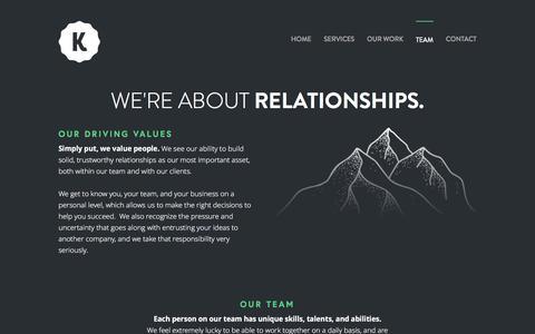 Screenshot of Team Page kaloncreative.com - Kalon Team — Kalon Creative - captured June 9, 2017