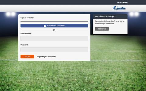 Screenshot of Login Page teemzter.com - Login | Teemzter - captured Oct. 7, 2014