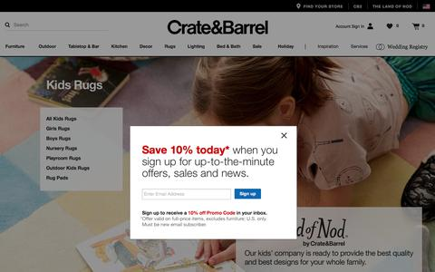 Kids Rugs   Crate and Barrel