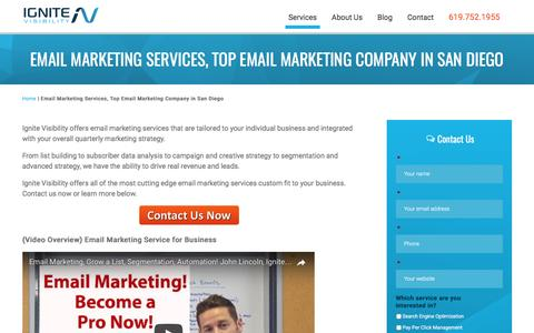 Email Marketing Services, Top Email Marketing Company in San Diego - Ignite Visibility