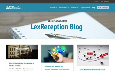Screenshot of Blog lexreception.com - LexReception - Live Virtual Receptionist and 24/7 Answering Service - captured May 18, 2017