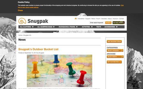 Screenshot of Blog Press Page snugpak.com - Snugpak - captured Sept. 18, 2014