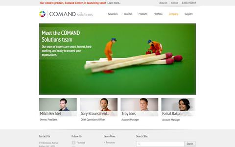 Screenshot of Team Page comandsolutions.com - Our Team - captured Sept. 26, 2014