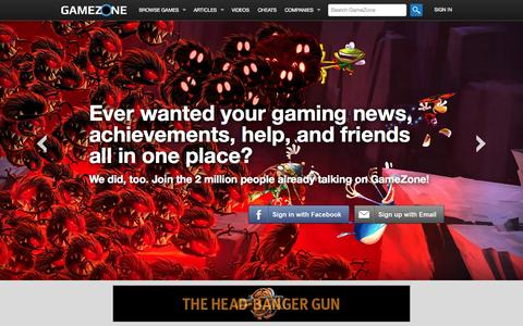 Screenshot of Signup Page gamezone.com - Video Game News, Reviews, Guides, Cheats and More - GameZone - captured Oct. 22, 2014