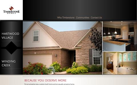 Screenshot of Home Page timberstone-homes.com - Timberstone Custom Built Homes | Lafayette, West Lafayette, Indiana - captured Oct. 9, 2014