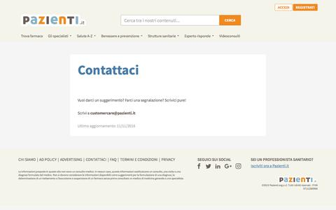 Screenshot of Contact Page pazienti.it - Pazienti.it - captured April 18, 2018