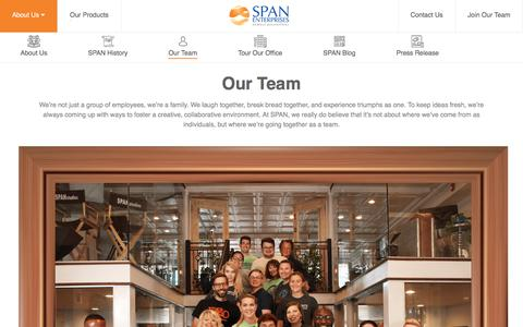 Screenshot of Team Page spanenterprises.com - Our Team :: SPAN Enterprises LLC - captured July 20, 2019