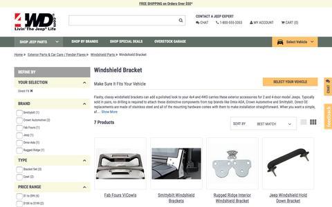 Windshield Bracket | 4wd.com