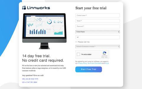 Linnworks registration