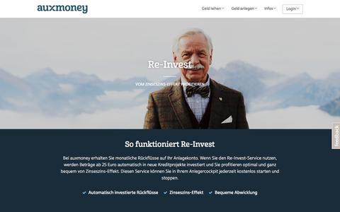 Re-Invest-Service von auxmoney