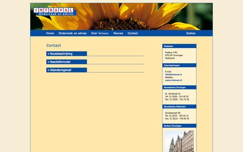 Screenshot of Contact Page intraval.nl - Contact - INTRAVAL. Bureau voor sociaal-wetenschappelijk onderzoek en advies - captured Sept. 30, 2014