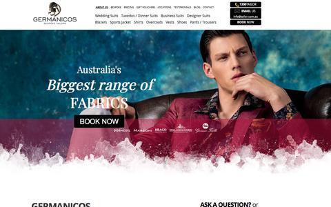Screenshot of About Page tailor.com.au - Australia's best tailors - captured April 23, 2018