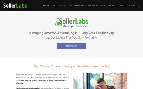 Screenshot of Services Page sellerlabs.com - Amazon PPC | Amazon Advertising Management Services - captured Oct. 30, 2018