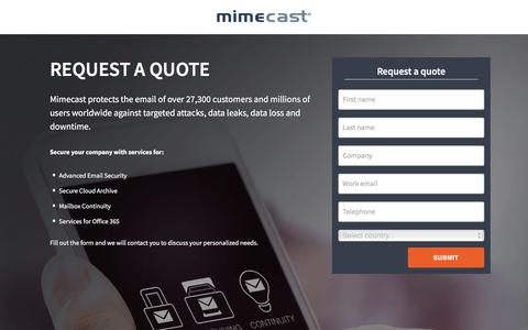 Request An Email Management Demonstration | Mimecast