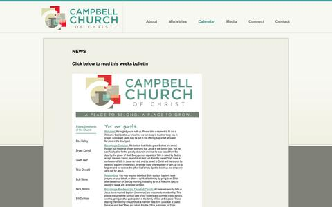 Screenshot of Press Page campbellchurch.org - Campbell Church of Christ - captured Oct. 1, 2014