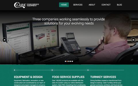 Screenshot of Home Page clarkfoodserviceequipment.biz - Clark Food Service Equipment - captured July 21, 2015