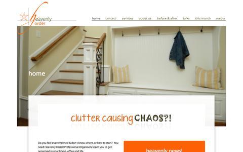 Screenshot of Home Page horder.com.au - Heavenly Order - captured Oct. 2, 2014