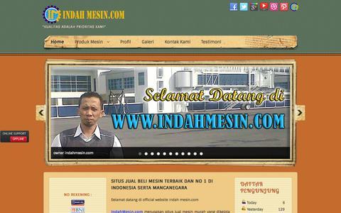 Screenshot of Home Page indahmesin.com - INDAH MESIN - Toko, Harga, Jual Mesin Murah Berkualitas - captured Oct. 16, 2015