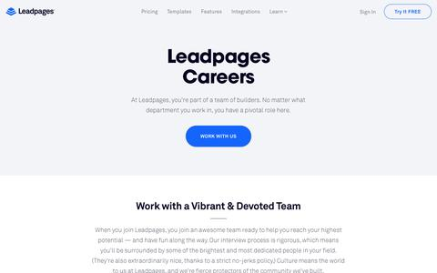 Leadpages® Careers