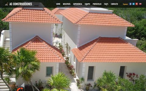 Screenshot of Home Page acconstrucciones.com.mx - Arquitectos en MŽxico, Cancœn, Puerto cancœn, tulœm y riviera maya - captured Dec. 22, 2015