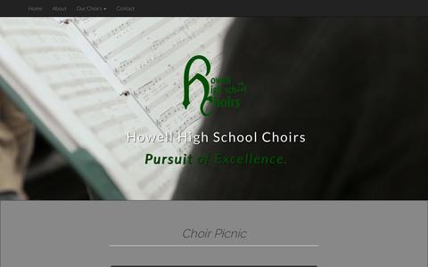 Screenshot of Home Page howellhschoirs.com - HHS Choirs - captured Sept. 17, 2015