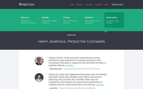 Ambition | Testimonials
