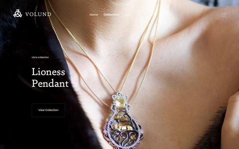 Screenshot of Home Page volund.ca - Volund | Numinous jewels brought to life by timeless stories - captured June 17, 2019