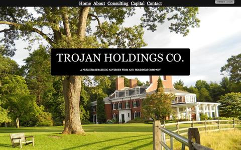Screenshot of Home Page trojanholdings.co - TROJAN HOLDINGS CO. - captured Oct. 9, 2014