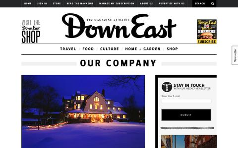 Screenshot of About Page downeast.com - Our Company - captured Oct. 12, 2017