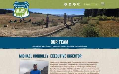 Screenshot of Team Page fdrd.org - Friends of the Dillon Ranger District :: Our Team - captured Oct. 11, 2018