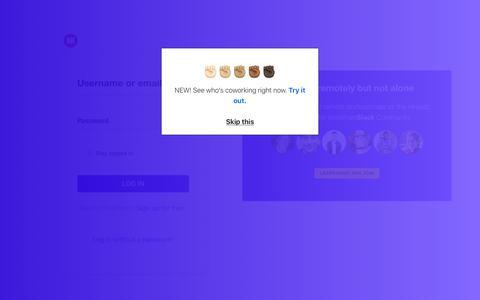 Screenshot of Login Page workfrom.co - Workfrom | Sign in - captured Nov. 18, 2019