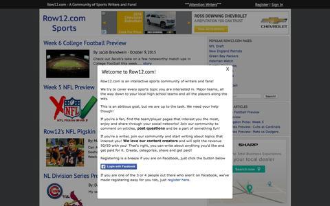 Screenshot of Home Page row12.com - Row 12 - captured Oct. 10, 2015