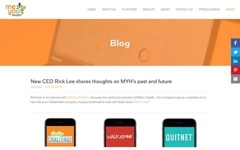Screenshot of Blog meyouhealth.com - MeYou Health - Blog - captured Aug. 10, 2016