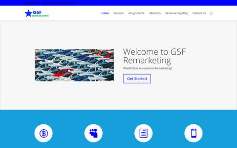 Screenshot of Home Page gsfremarketing.com - Home - Welcome to GSF Remarketing - captured July 18, 2015