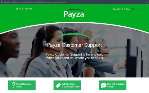 Screenshot of Contact Page Support Page payza.com - Payza | Send Money, Receive Payment, Money Transfer, Shop & Sell Online - captured May 15, 2017