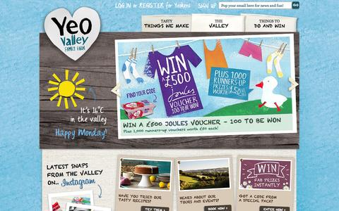 Screenshot of Home Page yeovalley.co.uk - Yeo Valley | Supporting British Family Farms - captured Sept. 23, 2014