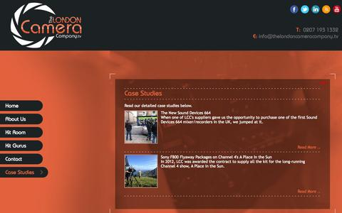 Screenshot of Case Studies Page thelondoncameracompany.tv - The London Camera Company - captured Sept. 30, 2014