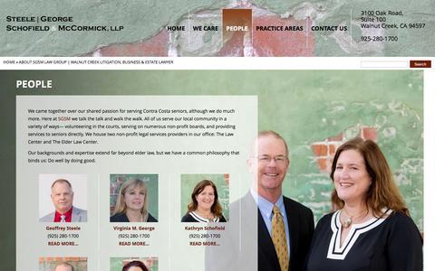 Screenshot of Team Page sgsmlaw.com - About SGSM Law Group | Walnut Creek Litigation, Business & Estate Lawyer - captured Feb. 16, 2016