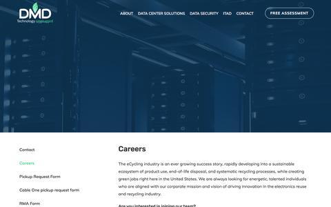 Screenshot of Jobs Page dmdsystems.com - DMD Solutions - captured April 12, 2018