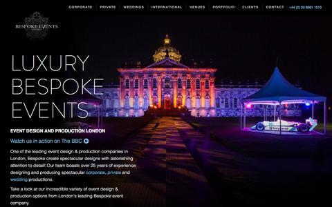 Luxury Event Design & Production| Bespoke Events London
