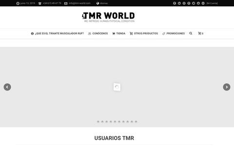 Screenshot of Home Page arteyclima.es - TMR WORLD – EL CINTURON RUSO ORIGINAL DESDE 1980 - captured June 16, 2019