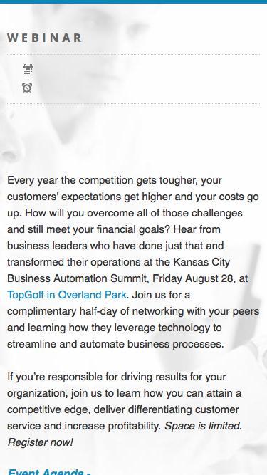 FileBound Kansas City Business Process Automation Summit