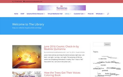 Screenshot of Blog satiama.com - Library | Satiama - captured July 22, 2016