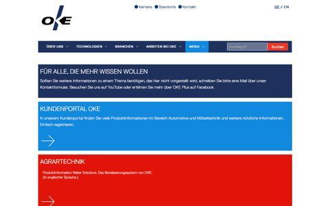 Screenshot of Press Page oke.de - Mediathek | OKE - captured Feb. 13, 2016